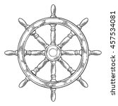 ship wheel isolated on white... | Shutterstock .eps vector #457534081