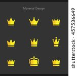 crown icons | Shutterstock .eps vector #457536649