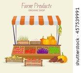 farm market fruit shop... | Shutterstock .eps vector #457539991