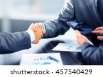 business people shaking hands... | Shutterstock . vector #457540429