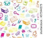 back to school. textures for... | Shutterstock .eps vector #457544575