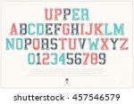 set of classical style alphabet ... | Shutterstock .eps vector #457546579
