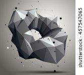 contemporary technology black... | Shutterstock . vector #457547065
