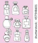 women's fragrances. women's... | Shutterstock .eps vector #457548601