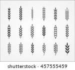 wheat ear icons | Shutterstock .eps vector #457555459
