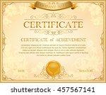 certificate  diploma of...   Shutterstock .eps vector #457567141