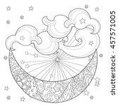 christmas half moon with stars ....   Shutterstock .eps vector #457571005