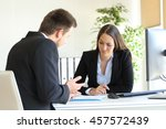 bad businessman trying to...   Shutterstock . vector #457572439