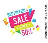 sale banner template. best... | Shutterstock .eps vector #457575535