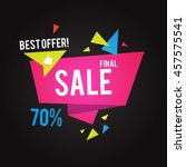 sale banner template. best... | Shutterstock .eps vector #457575541