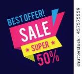 sale banner template. best... | Shutterstock .eps vector #457575559