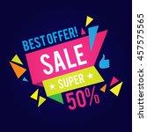 sale banner template. best... | Shutterstock .eps vector #457575565