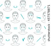 seamless pattern of face... | Shutterstock .eps vector #457578871