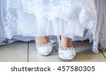bride dress and shoes | Shutterstock . vector #457580305
