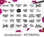 hand drawn sale calligraphic... | Shutterstock .eps vector #457584931