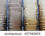 top of sort brown envelope | Shutterstock . vector #457585855