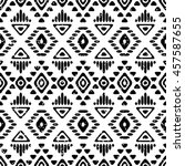 seamless pattern with ethnic... | Shutterstock .eps vector #457587655