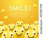 3d smiley emoticon and layout... | Shutterstock .eps vector #457587799