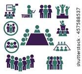 ally  alliance  team icon set | Shutterstock .eps vector #457588537