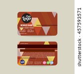 front and back member card... | Shutterstock .eps vector #457593571