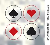 vector playing cards symbols. | Shutterstock .eps vector #457595131