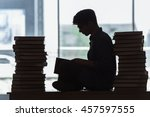 young student under stress... | Shutterstock . vector #457597555