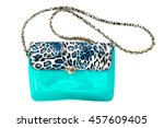 Green Lady Hand Bag With Strap...
