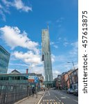 manchester   may 22  beetham...   Shutterstock . vector #457613875