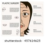 cosmetic plastic facial surgery ... | Shutterstock .eps vector #457614625