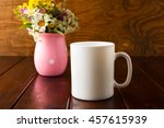White Coffee Mug Mockup With...