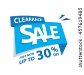 clearance sale blue tag 30... | Shutterstock .eps vector #457619485