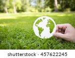 environment concept  paper... | Shutterstock . vector #457622245