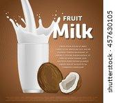 coconut sweet milkshake dessert ... | Shutterstock .eps vector #457630105