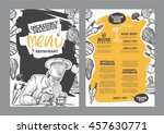 Creative menu design. Menu template and layout menu. | Shutterstock vector #457630771