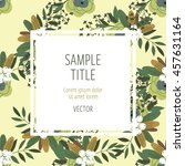 cute invitation design template ... | Shutterstock .eps vector #457631164