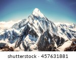 mountain peak. everest....   Shutterstock . vector #457631881