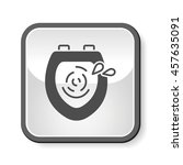 toilet seat icon | Shutterstock .eps vector #457635091