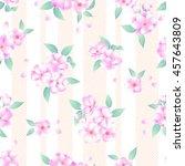 japanese style cherry blossom... | Shutterstock .eps vector #457643809