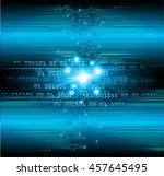 blue abstract cyber future... | Shutterstock .eps vector #457645495