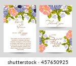 vintage delicate invitation... | Shutterstock .eps vector #457650925