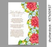 vintage delicate invitation... | Shutterstock .eps vector #457650937
