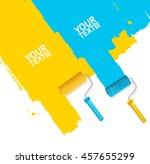 roller brush painting banner... | Shutterstock .eps vector #457655299
