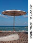 Tel Aviv  Israel  A Beach...