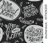 "seamless ""home sweet home"".... | Shutterstock .eps vector #457656205"