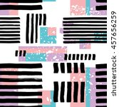 striped geometric seamless... | Shutterstock .eps vector #457656259