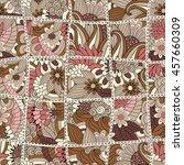 abstract seamless patchwork... | Shutterstock . vector #457660309