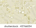 golden industrial circuit board ... | Shutterstock . vector #45766054