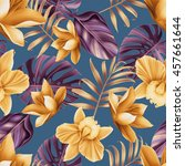 seamless tropical flower  plant ... | Shutterstock . vector #457661644
