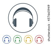 headphone icon isolated on... | Shutterstock .eps vector #457665949