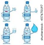 water plastic bottle cartoon... | Shutterstock .eps vector #457670197